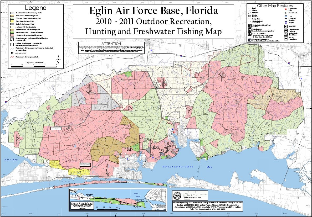 Eglin Recreation Map High Quality Hunting And Fishing - Florida map niceville
