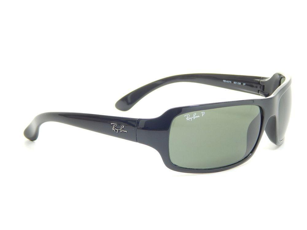 Ray Ban RB4075 601 58 Black Crystal Green Polarized Sunglasses ... 7715a5187d5