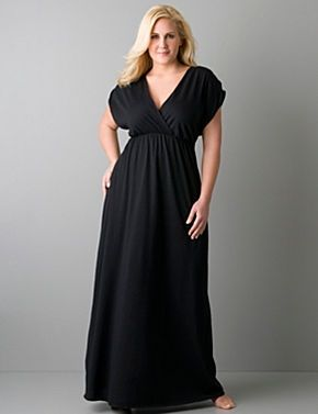 Lane Bryant Short sleeve knit maxi dress, $60