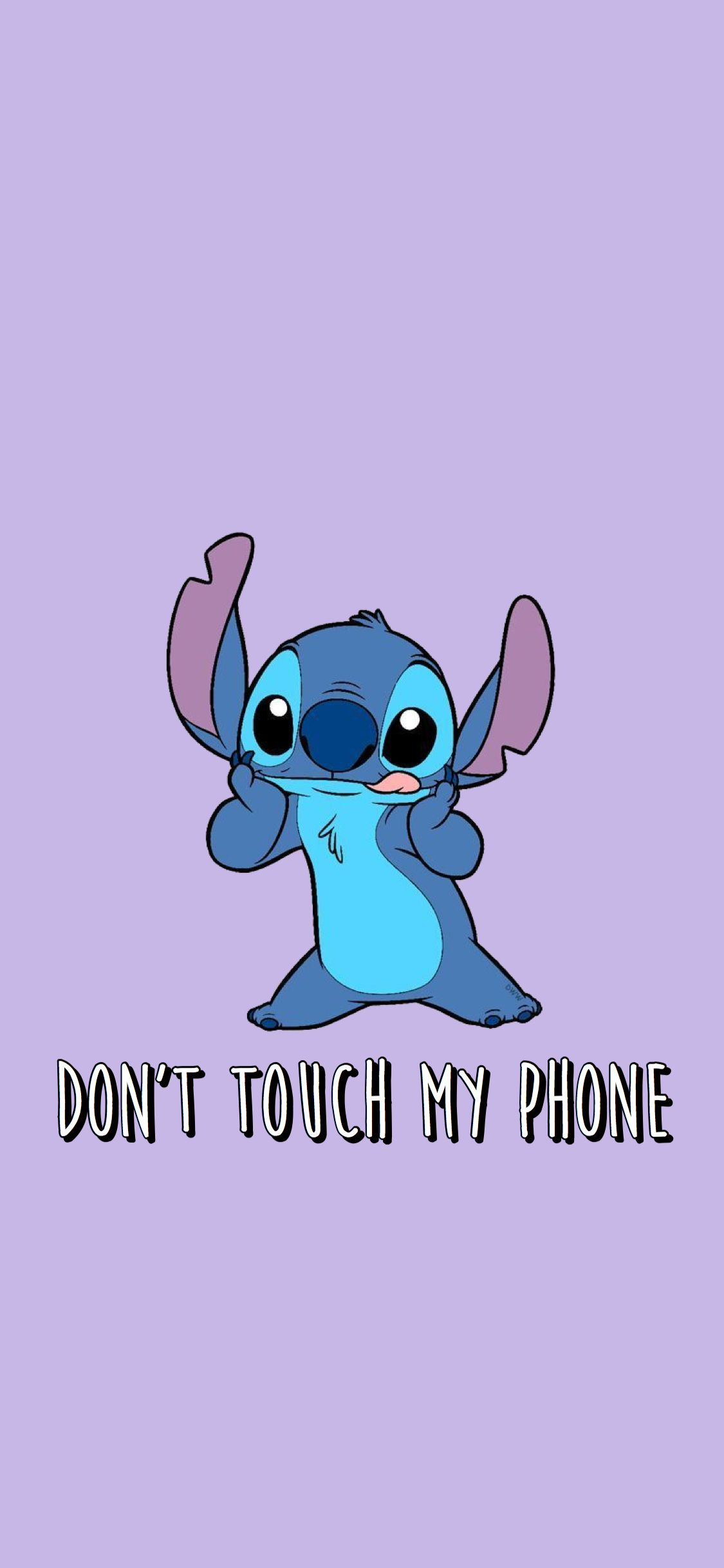 Stitch Wallpaper Screensaver Dont Touch My Phone Wallpapers Funny Phone Wallpaper Funny Iphone Wallpaper