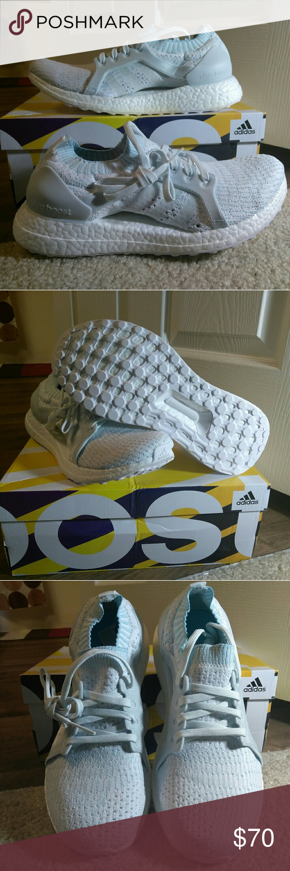 5ec23d0362a59 ADIDAS UltraBOOST X PARLEY WOMEN S RUNNING SHOES Women s Adidas UltraBOOST  running shoes IceBlu Wht PC BY2707 adidas Shoes Athletic Shoes