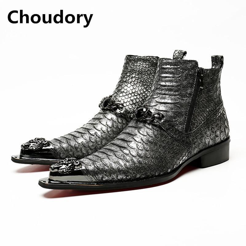 e4ce17d0577c1 Oxford Men Shoes Gentlemen s Choudory Leather Fashion Snakeskin tqIAIp