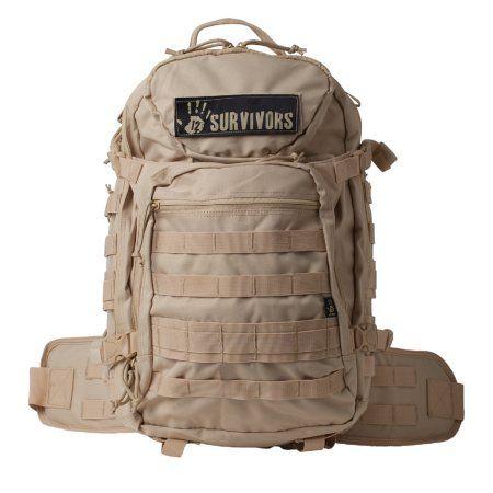 12 Survivors Tactical Backpack, Tan, Beige