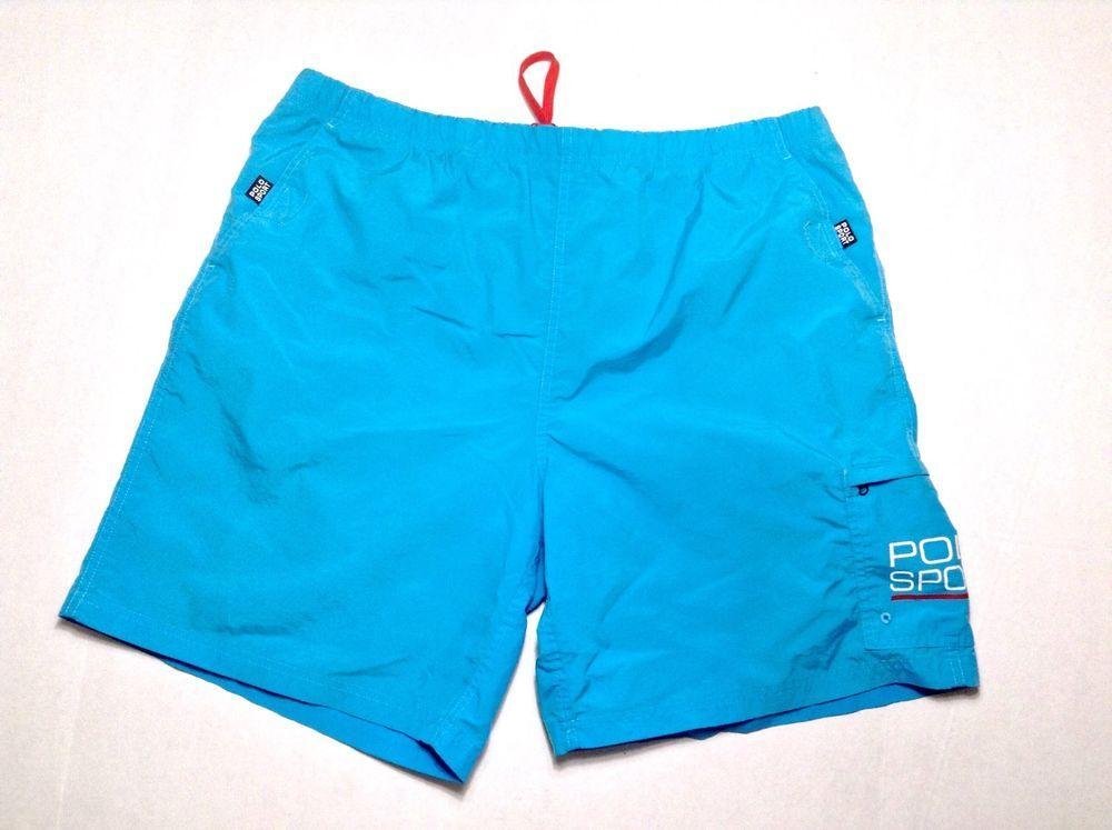 689c800156 Vintage Ralph Lauren Polo Short Swim Trunks Men's Large Blue Pool Shorts  90's #PoloRalphLauren #Trunks