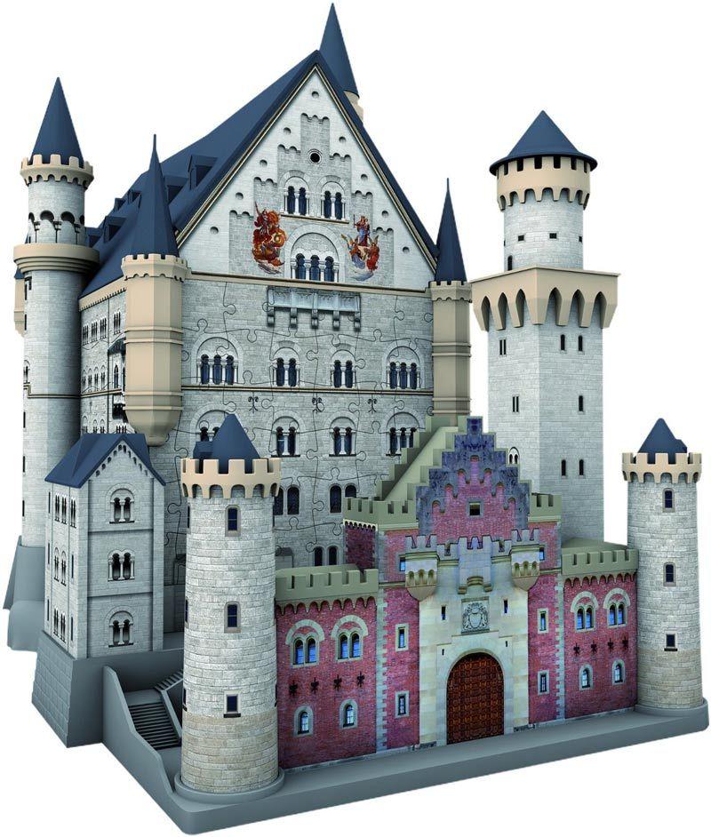 Schloss Neuschwanstein 3d 216 Pieces Ravensburger Puzzle Warehouse Neuschwanstein Castle 3d Puzzles Castle