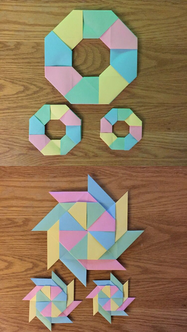 8th grade math origami project on symmetry. | Math ...