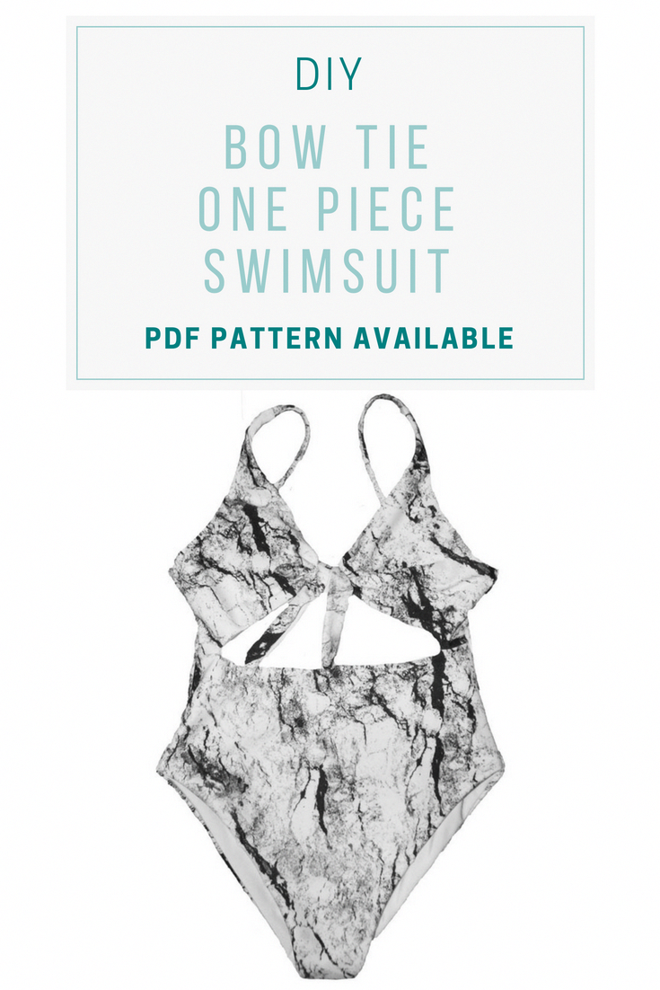 dd0116e34f342 Learn how to sew a bow tie one piece swimsuit #diy #sewing #howto  #diyfashionideas