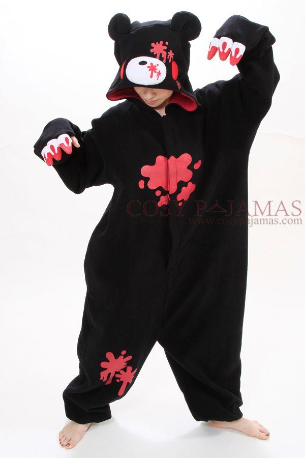 Animal Adult Onesie Black Gloomy Bear Kigurumi Pajamas