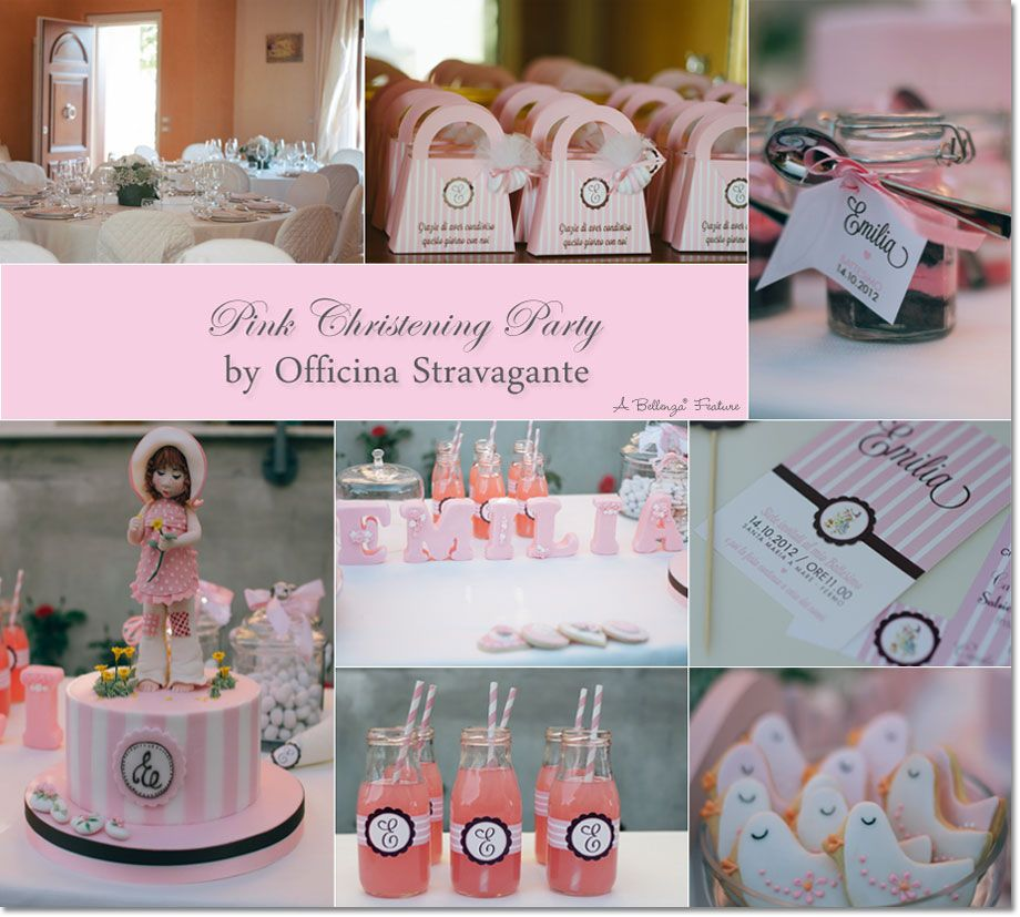 Pink christening party inspirational feature from home for Baby dedication decoration ideas