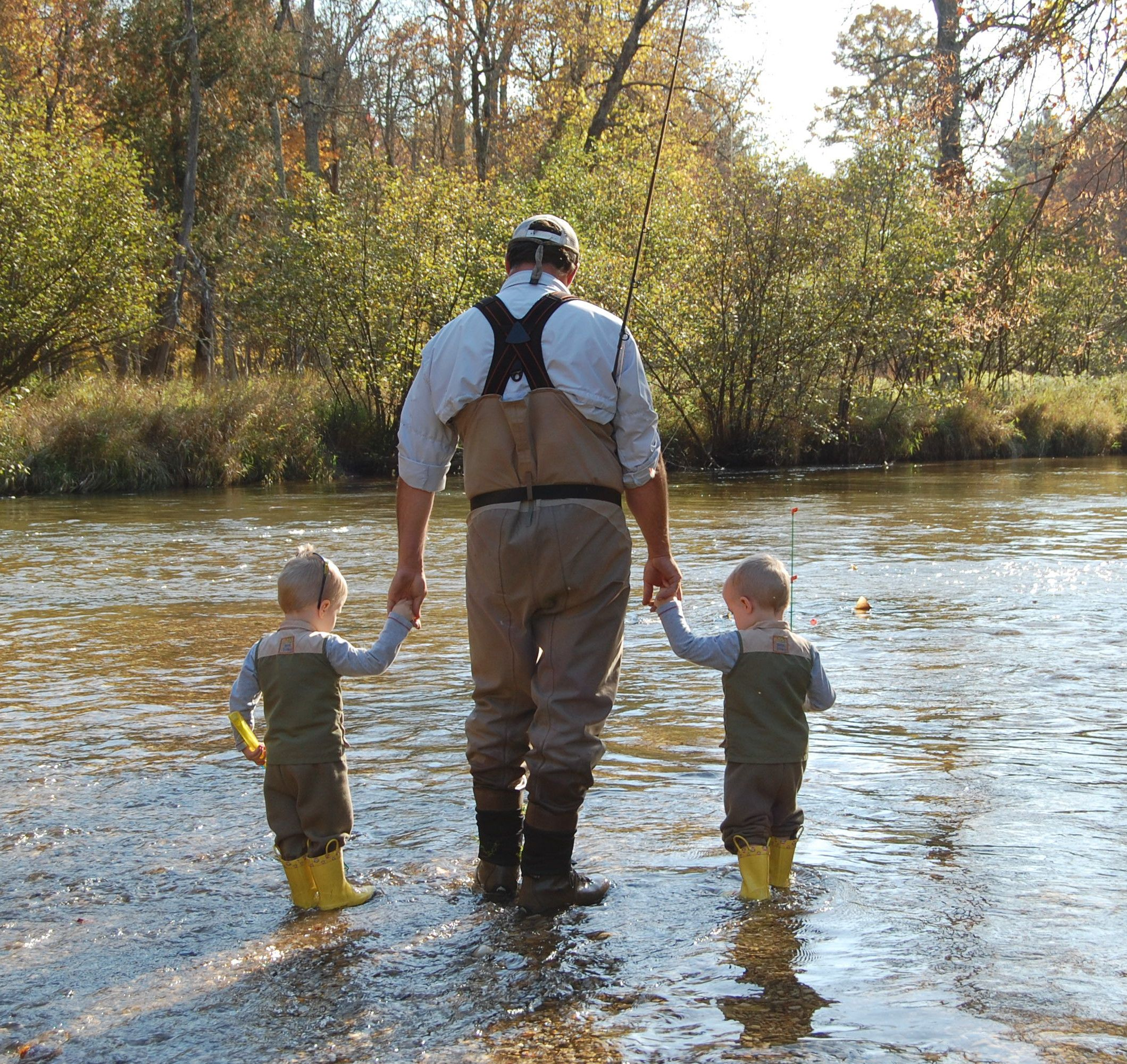 Fly fishing with daddy! | Twins | Trout fishing tips, Fly fishing