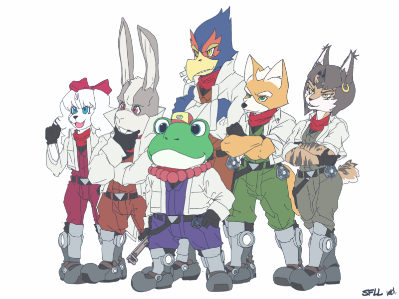 Pin By Nerdzombie On Video Game Concept Art Star Fox Fox