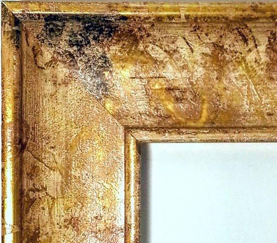 Gilded Gold Framed Mirror Real Gold Leaf 3 5 8 Wide Frame 24x36 20x24 16x20 11x14 8x10 With Images Gold Framed Mirror Gold Picture Frames Mirror Frames