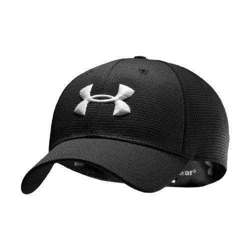 fc86d99a036 Men s UA Blitzing Stretch Fit Cap Headwear by Under Armour Combo Medium    Large Black by Under Armour.  21.99. Structured build maintains shape with  a ...