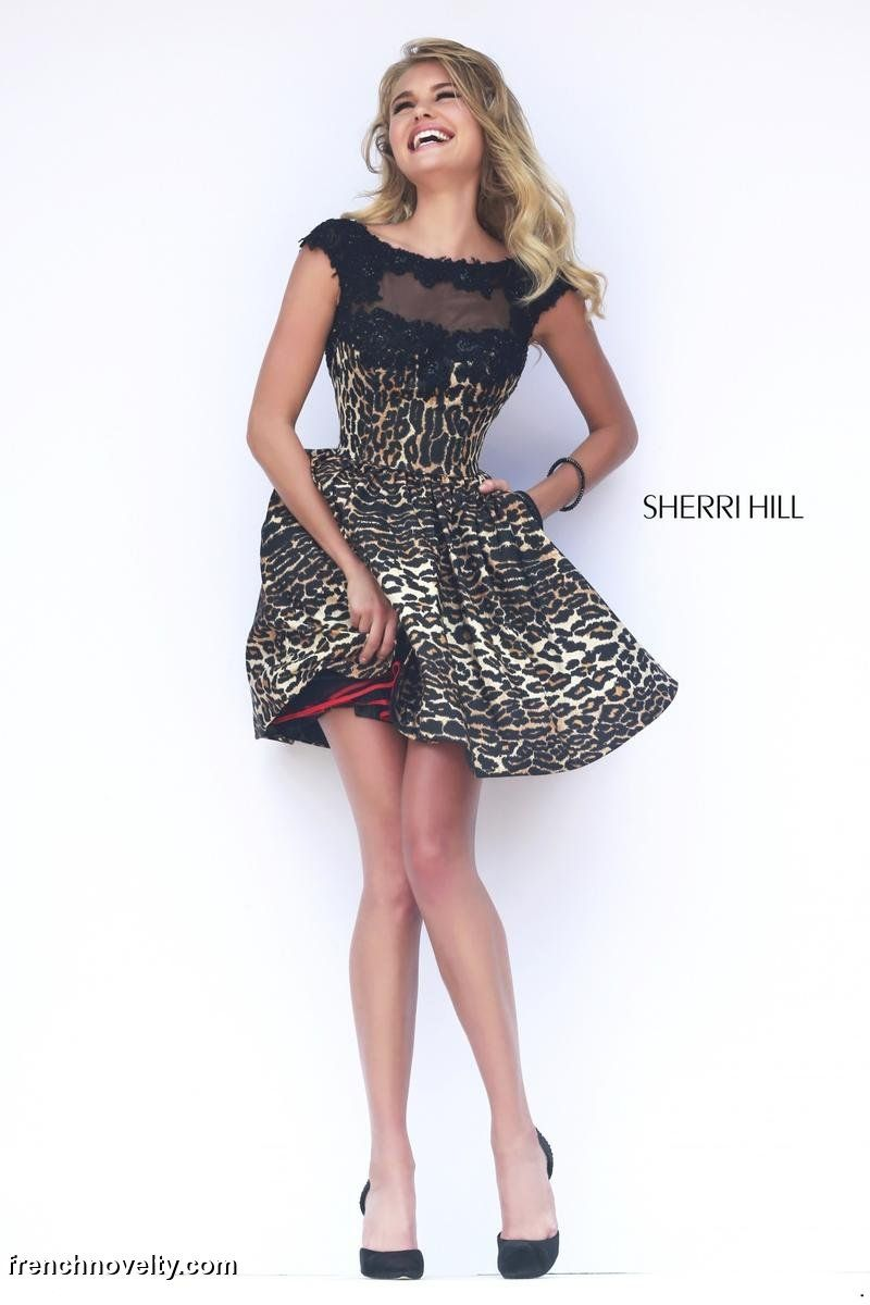 Sherri Hill 32111 Short Leopard Print Party Dress
