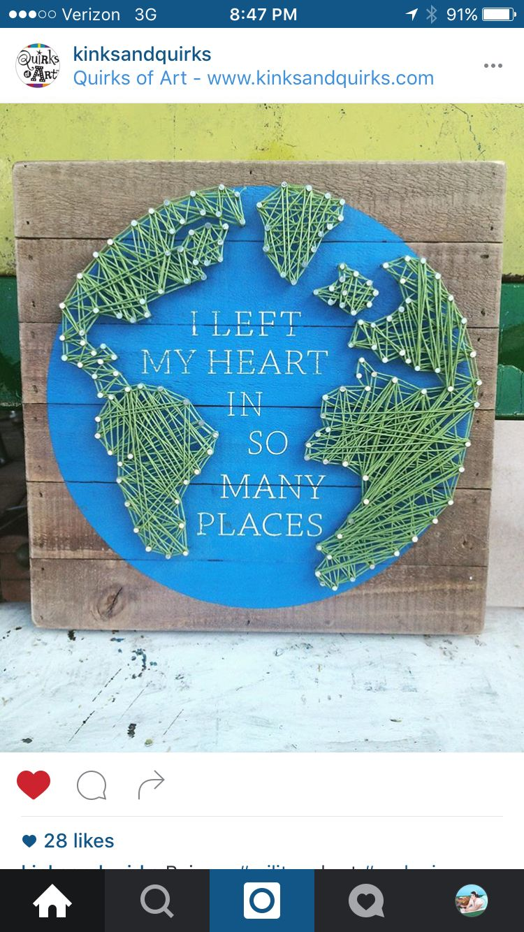 Nail and string art | string art | Pinterest | String art, Craft and ...