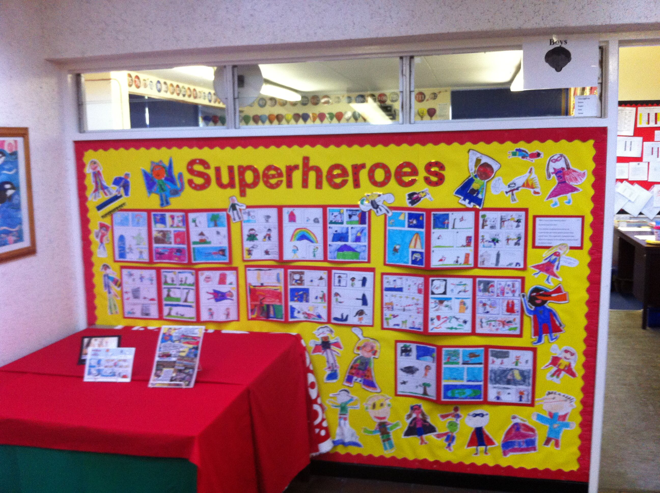 Superheroes Display