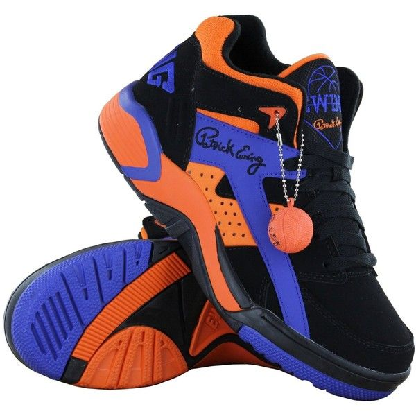 Amazon.com: Patrick Ewing Wrap Black Orange Womens Trainers -:.