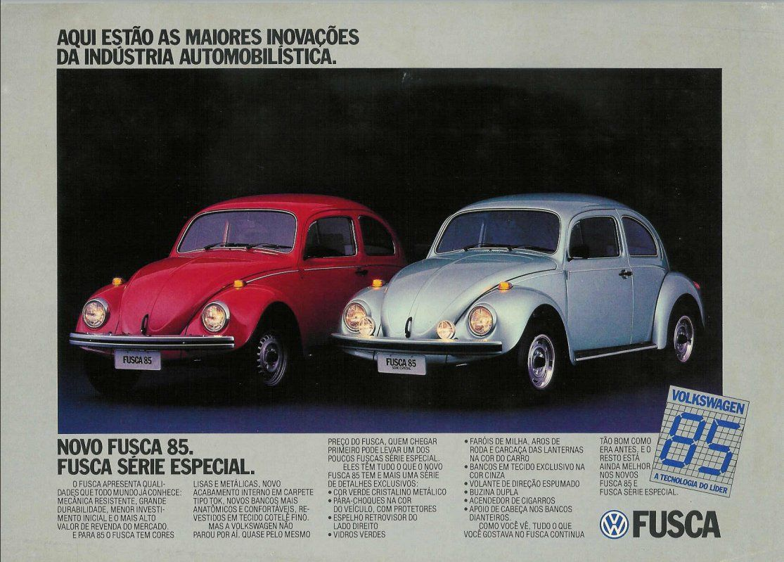 1985 Vw Fusca 1600 Brazil Fusca Volkswagen Vw Fusca