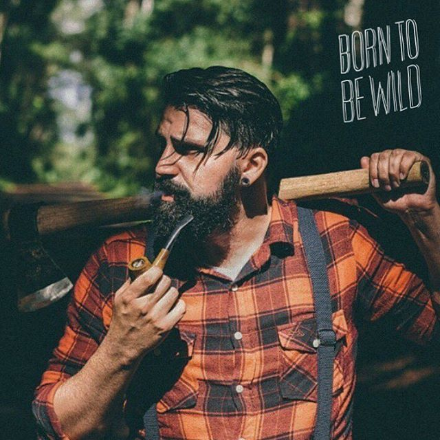 ⚔ BEARDED VILLAIN ⚔  BORN TO BE WILD.  This is @xikozzz From @bearded_villains_brasil  The rugged bearded men will always be one with nature. Here is to our adventurous brothers from around the world .