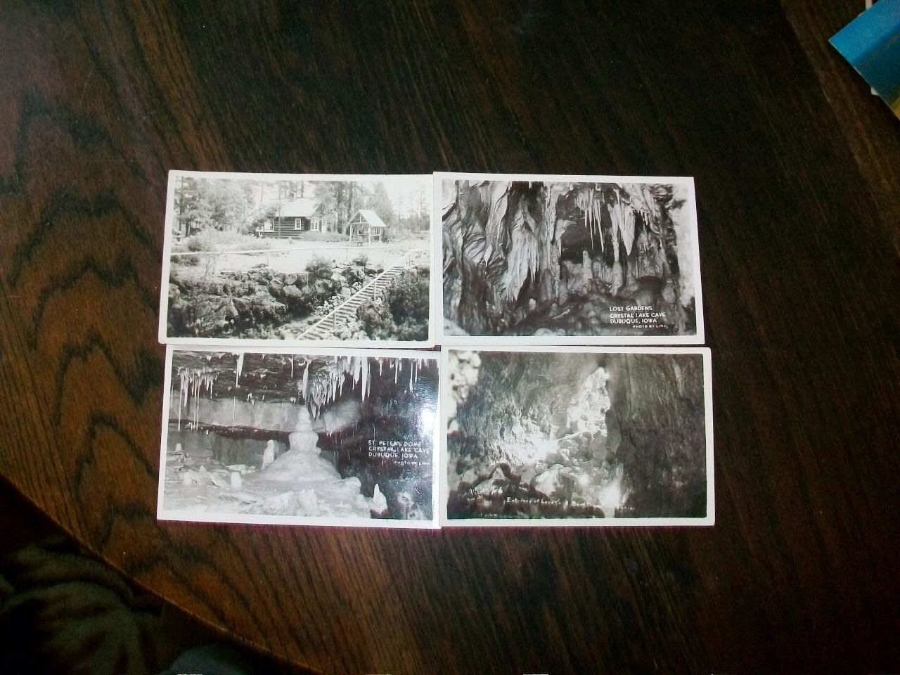 4 Vintage Photograph Postcards Crystal Lake Cave Dubuque, Iowa RPPC 1940s by RedRiverAntiques on Etsy https://www.etsy.com/listing/123574411/4-vintage-photograph-postcards-crystal
