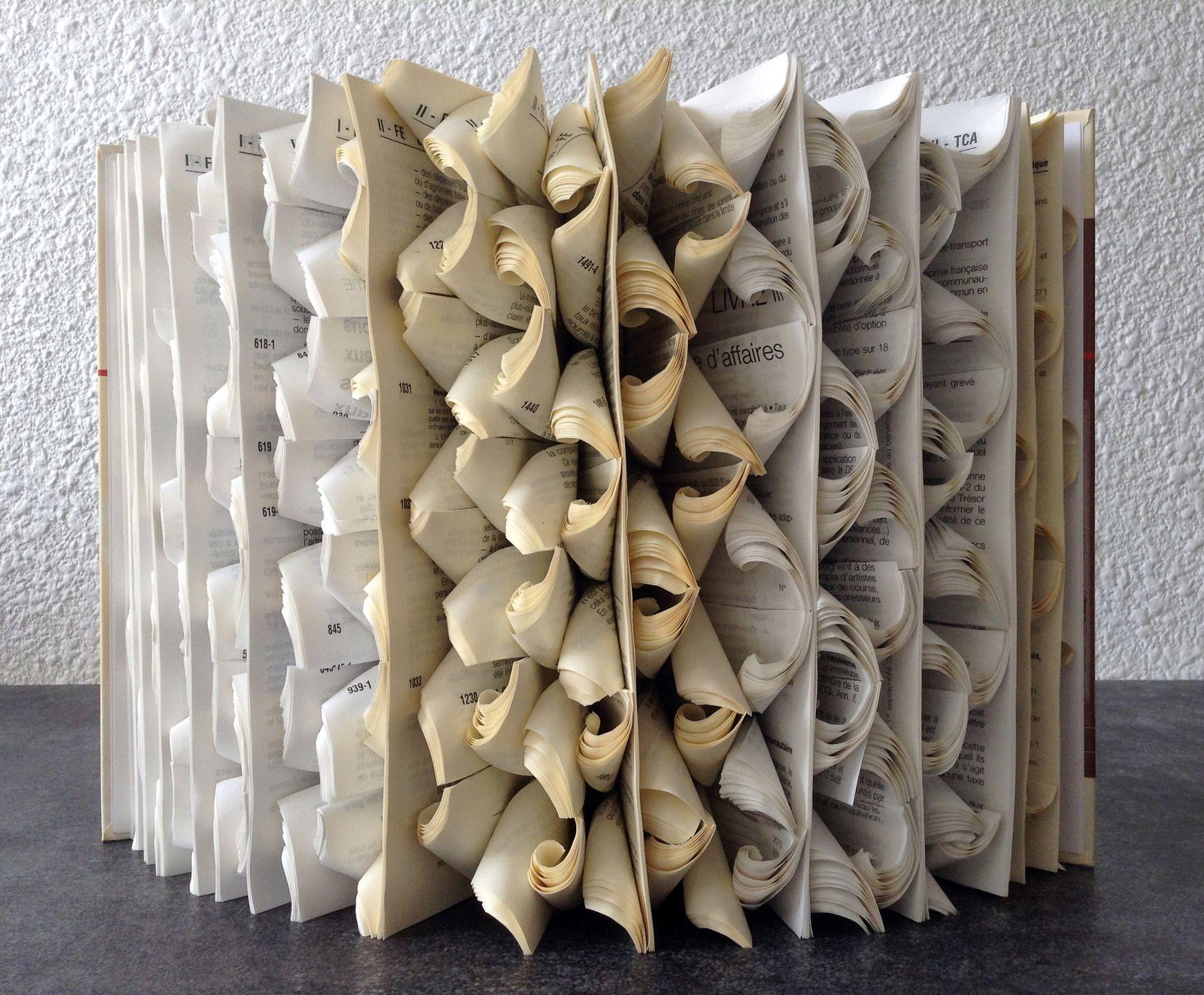 Livre Objet La Mer Orageuse Book Folfing Paper Art