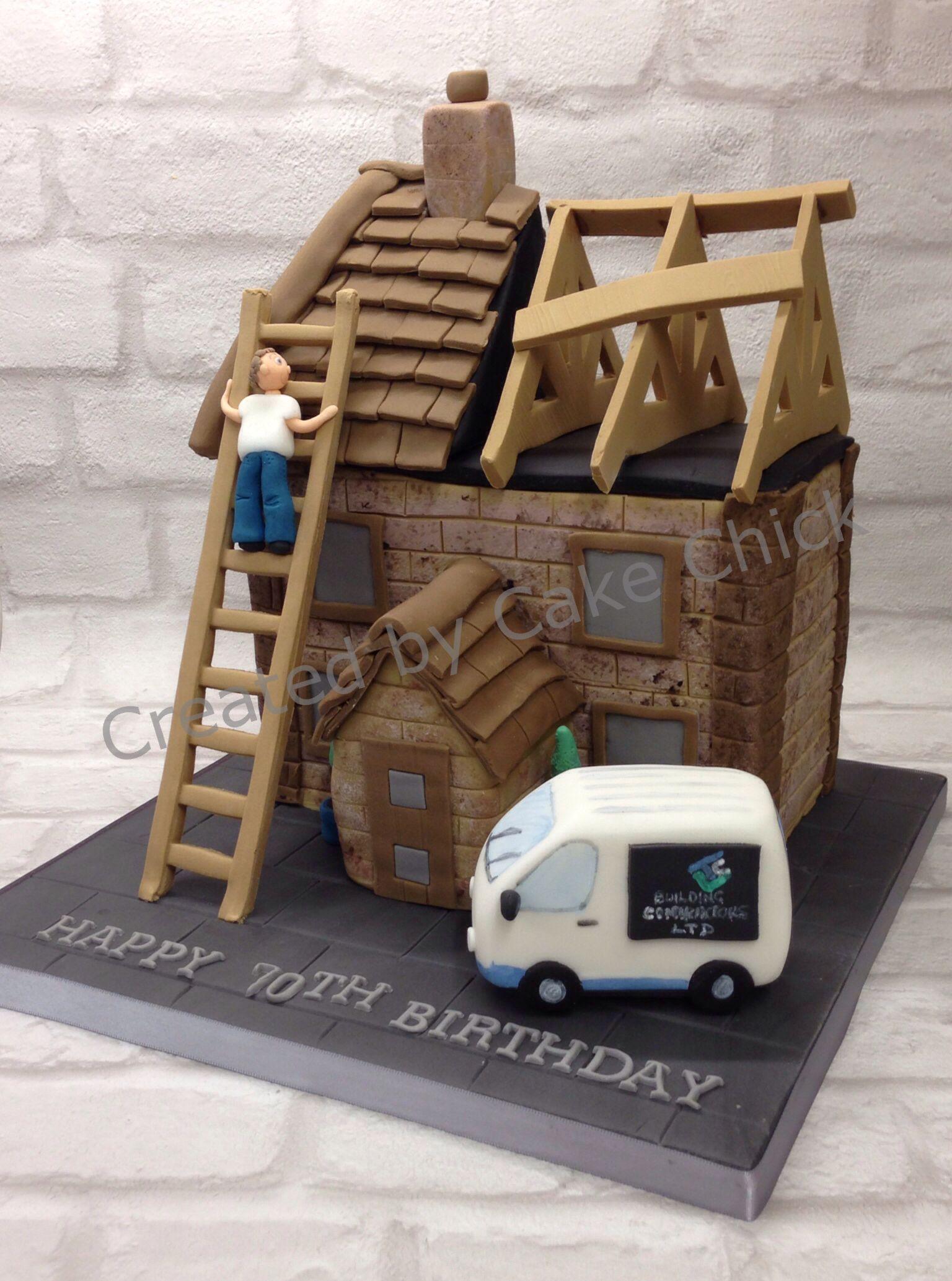 House Cake House Under Construction Cake