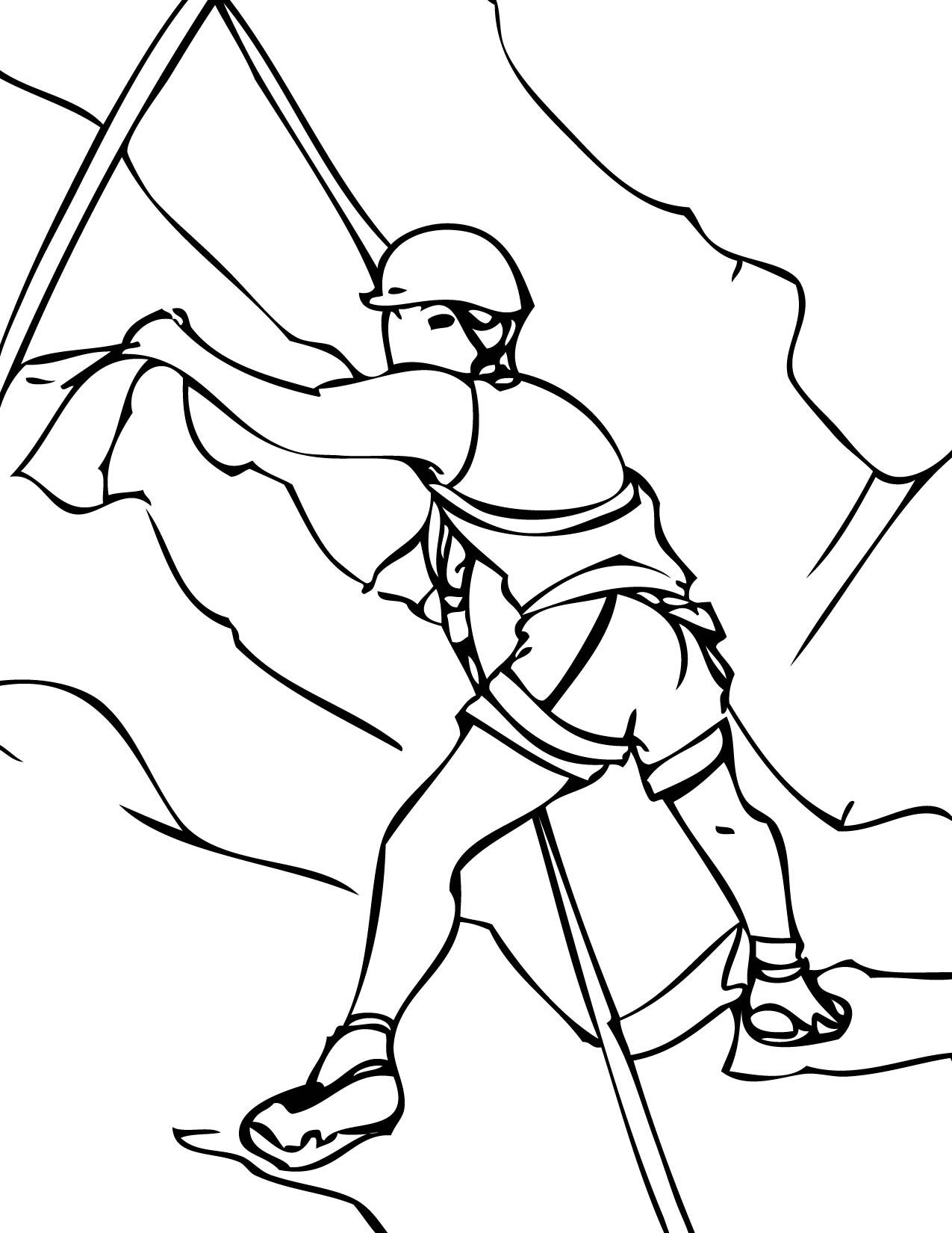 Rock Climbing Handipoints Coloring Page Sports Coloring Pages