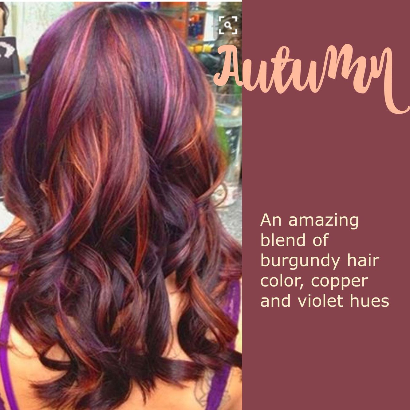 Copper Violet Autumn Hair With Images Colored Hair Tips
