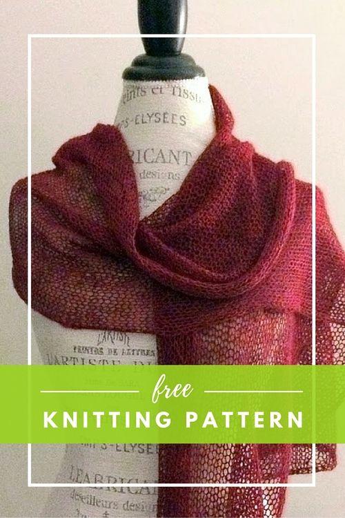 Ethereal Shawl Free Knitting Pattern