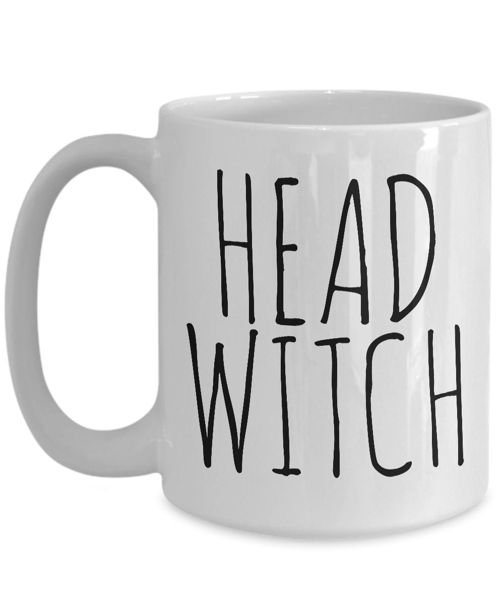 Head Witch Cauldron Mug Funny Halloween Ceramic Coffee Cup