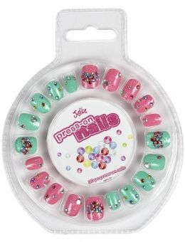 Just Shine Pineapple Press On Nail Set Fake Nails For Kids Nail Art For Girls Nails For Kids