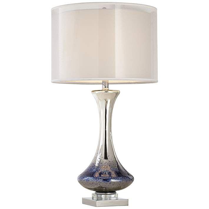 Dinorah Blue Mercury Glass Table Lamp - #7Y702 | Lamps Plus