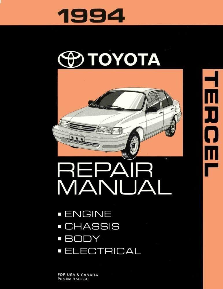 1994 Toyota Tercel Shop Service Repair Manual Toyota Tercel Repair Manuals Repair