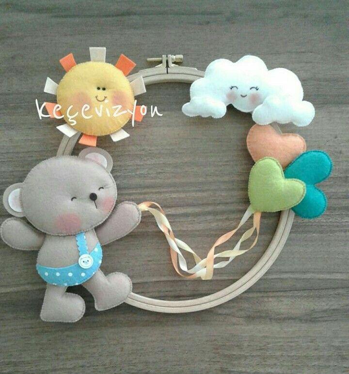 Fuoriporta per bambini in feltro e pannolenci