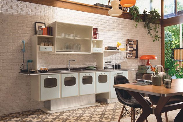 Marchi Group Keuken : Retro kitchen with 1950s flare: st. louis by marchi cucine