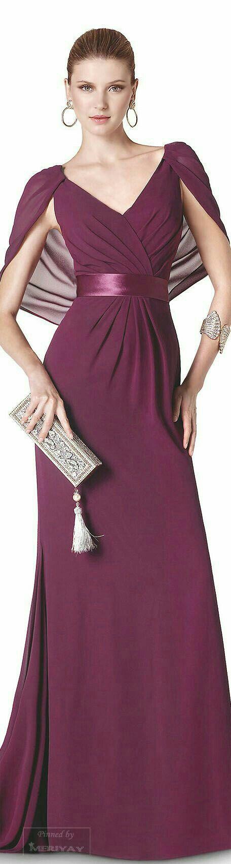 Pin by Aura Reyes on Vestidos largos y cortos   Pinterest   Elegant ...