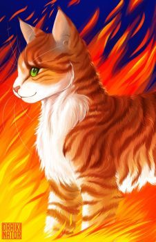 Realistic Firestar By Draikinator With Images Warrior Cats