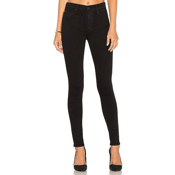 Hudson Jeans Barbara High Waist Super Skinny ($170) ❤ liked on Polyvore…