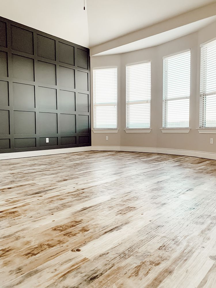 Faux Farmhouse Flooring Makeover With Lifeproof Sheet Vinyl In 2020 Farmhouse Flooring Floor Makeover Vinyl Flooring