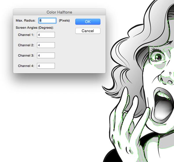 Halftone settings   Halftone   Adobe illustrator