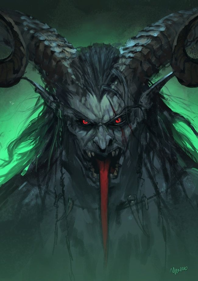 Krampus >> Krampus, The Yule Lord by Yanmo Zhang | Yule, Lord and Creature design