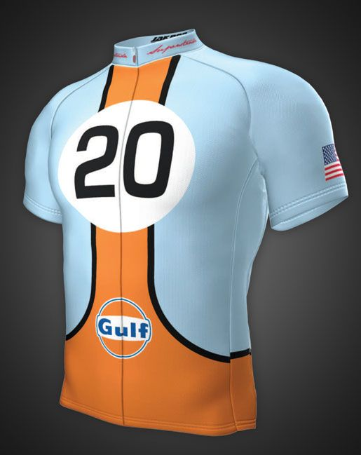 Gulf Fondo Jersey – Classic. Gulf Racing Cycling Collection  7a8cbb294