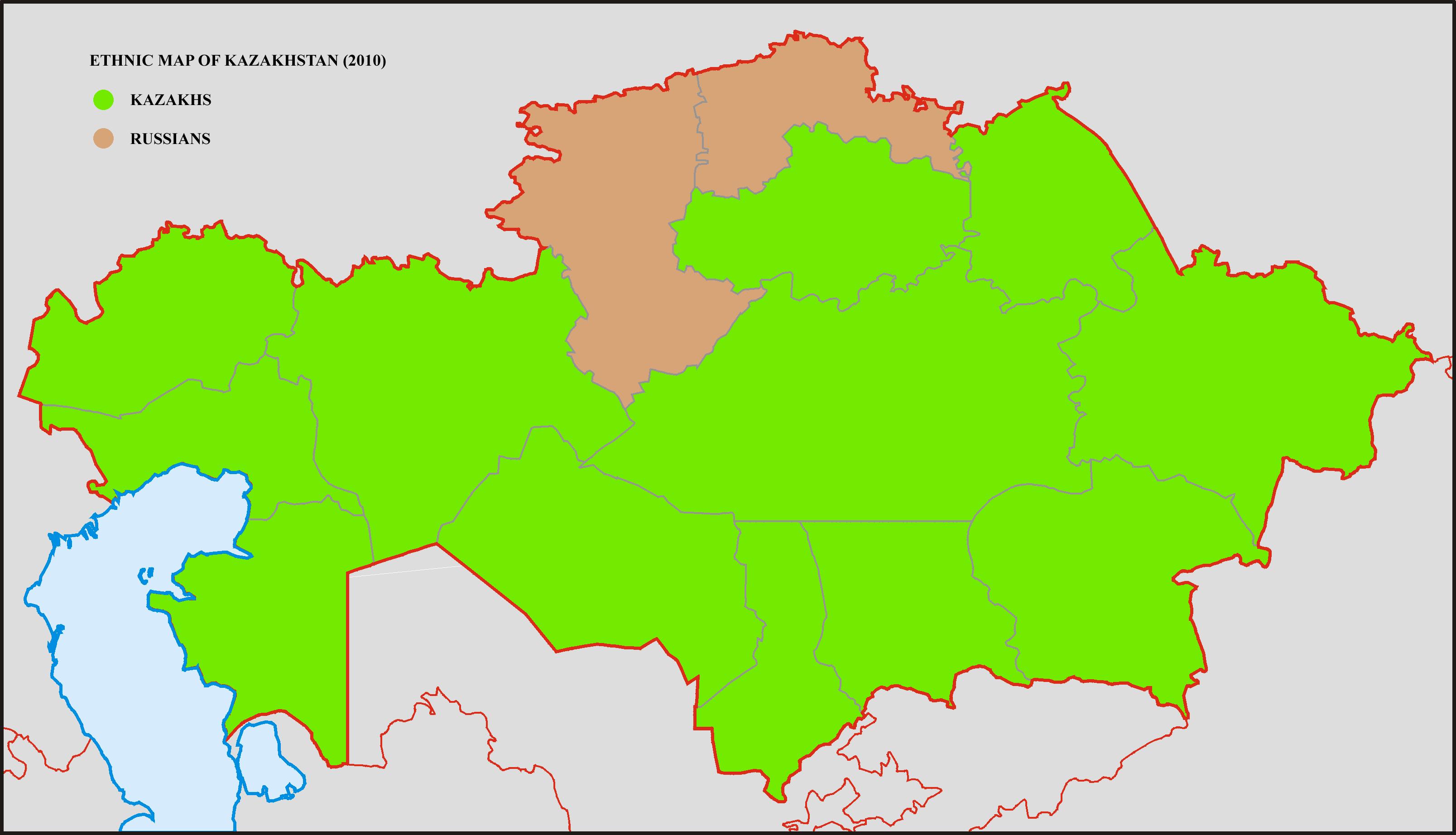 Ethnic map of kazakhstan 2010 pinterest ethnic map of kazakhstan gumiabroncs Image collections