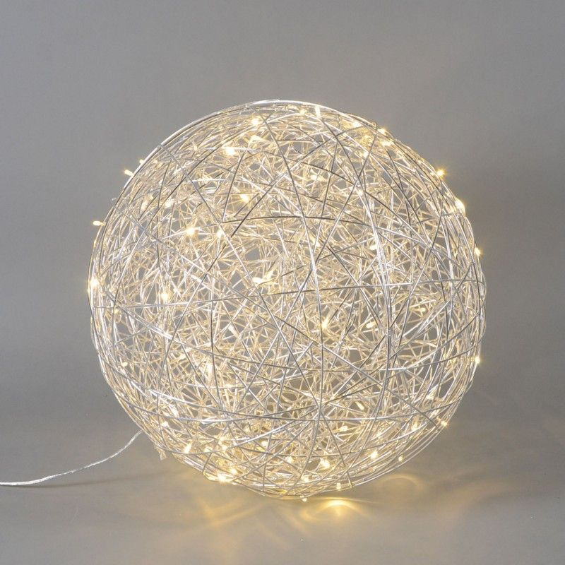 Bodenleuchte Draht Kugel 60cm LED Aluminium | Drahtkugel, Kreativ ...