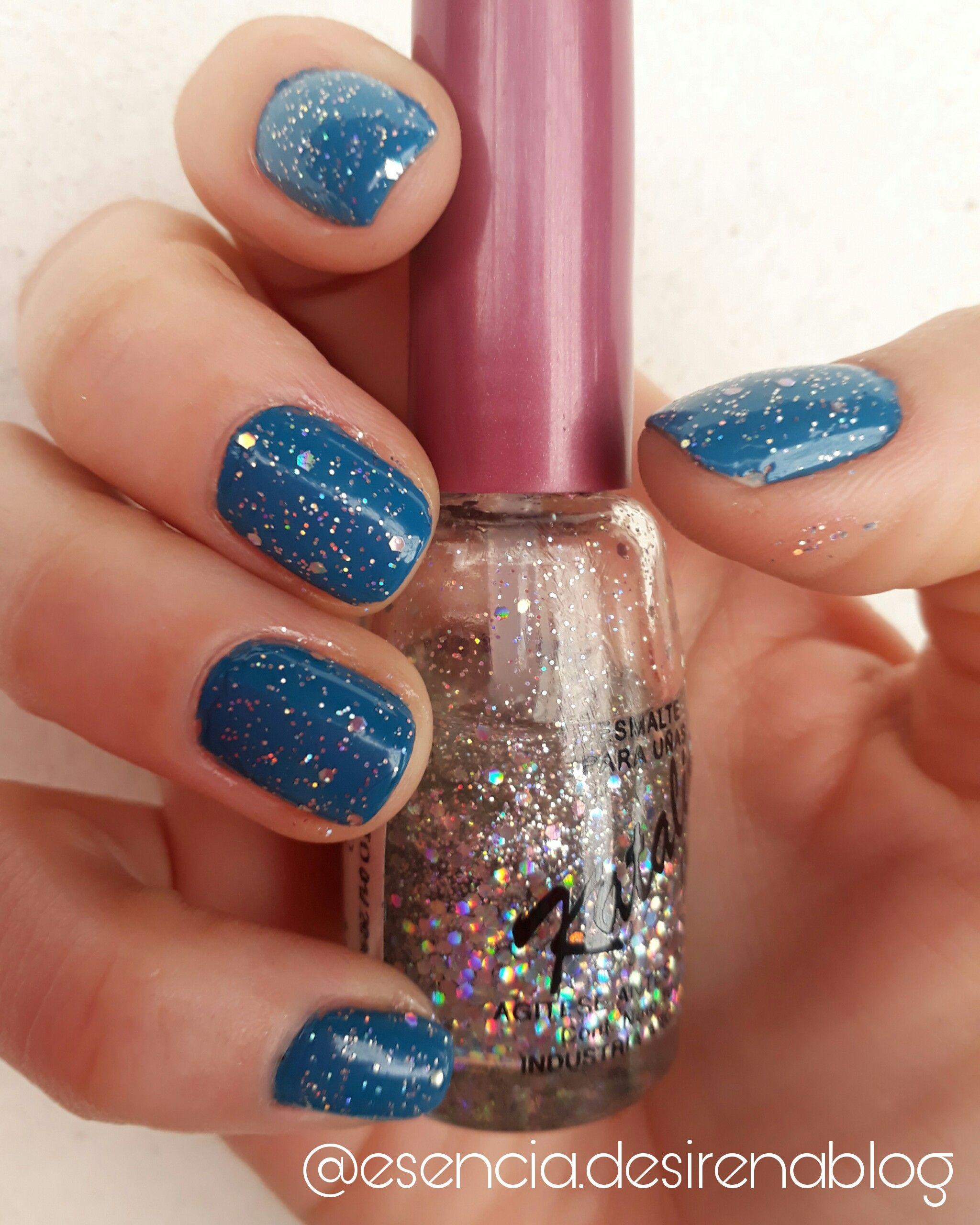 Esmalte brillo-glitter holografico Katalia | Esmaltes Glitter ...