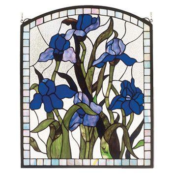 Meyda Tiffany Tiffany Nouveau Iris Stained Glass Window