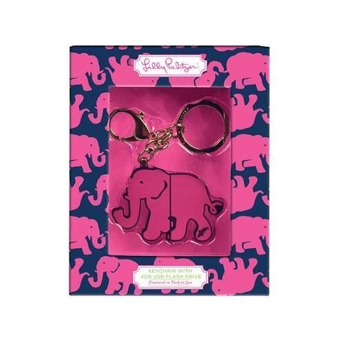 Lilly Pulitzer Keychain with USB Flash Drive
