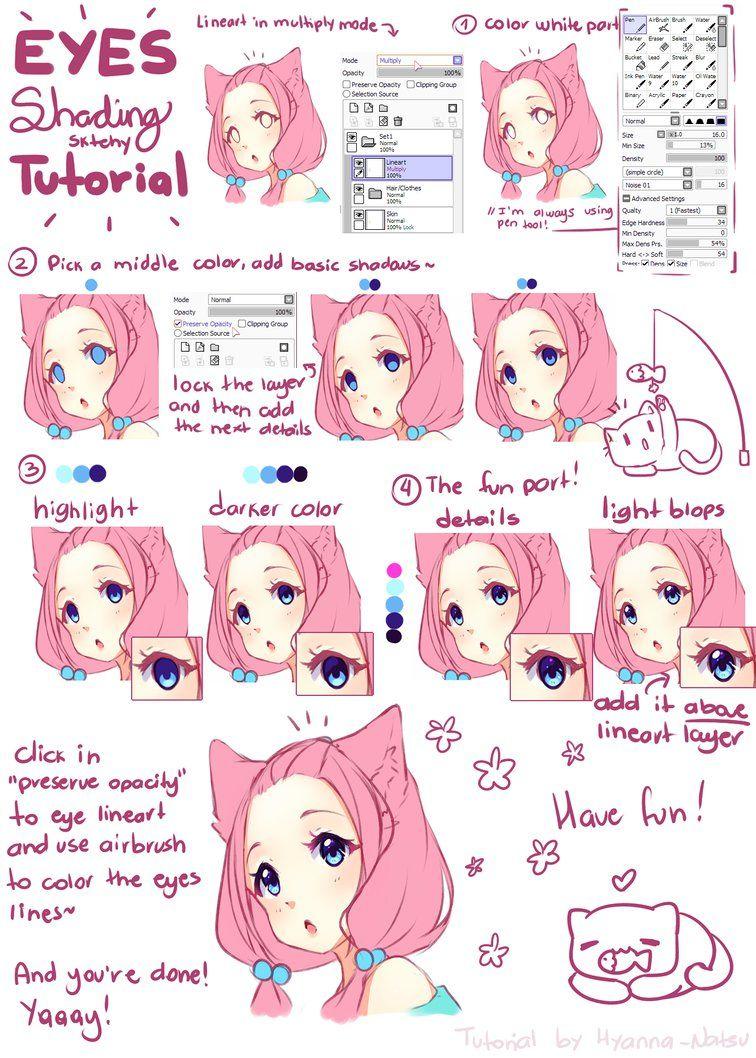 tutorial - hyan simple eye shading