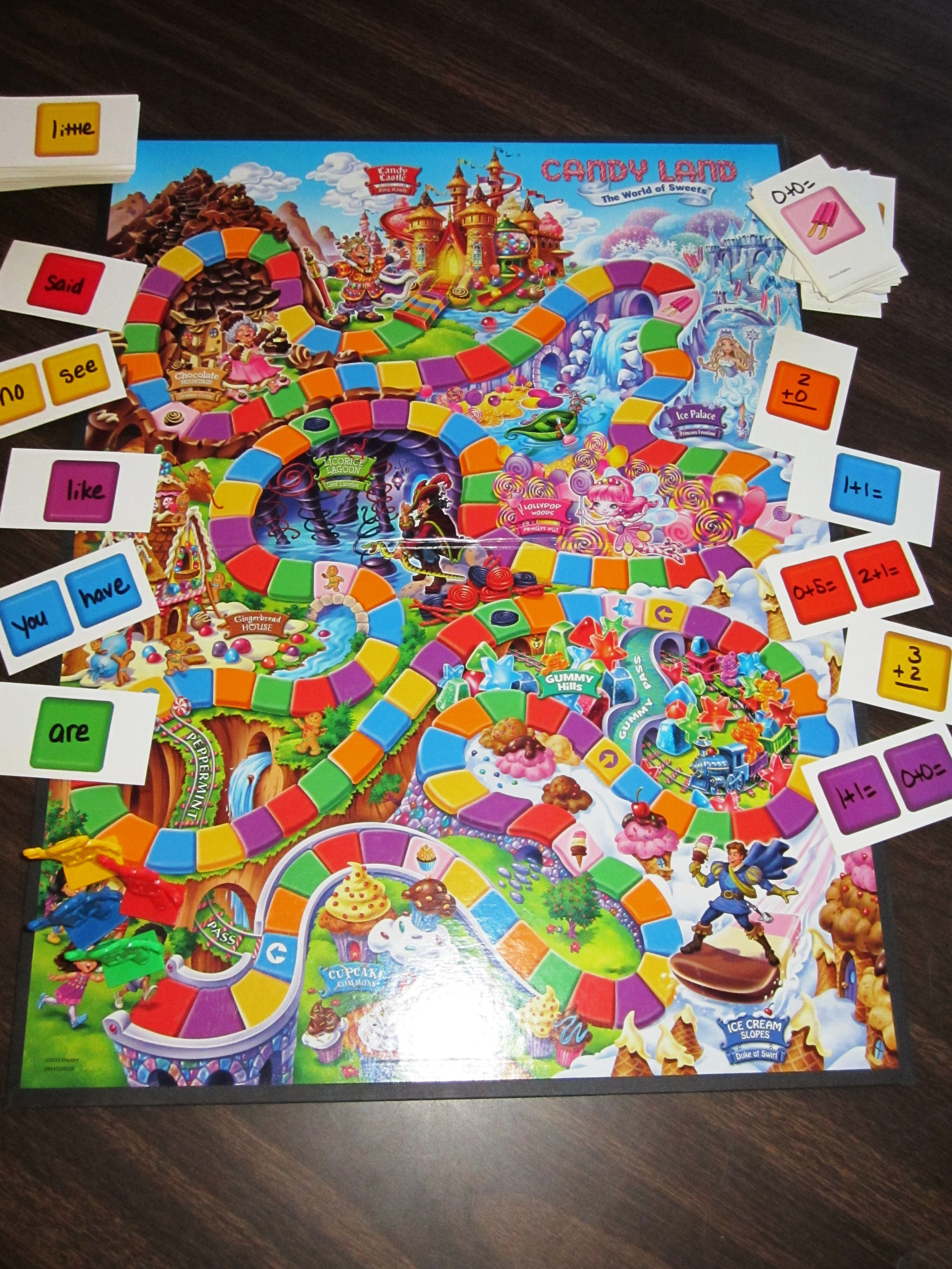 2 Versions Of Candy Land Sight Word Or Math Fact Practice