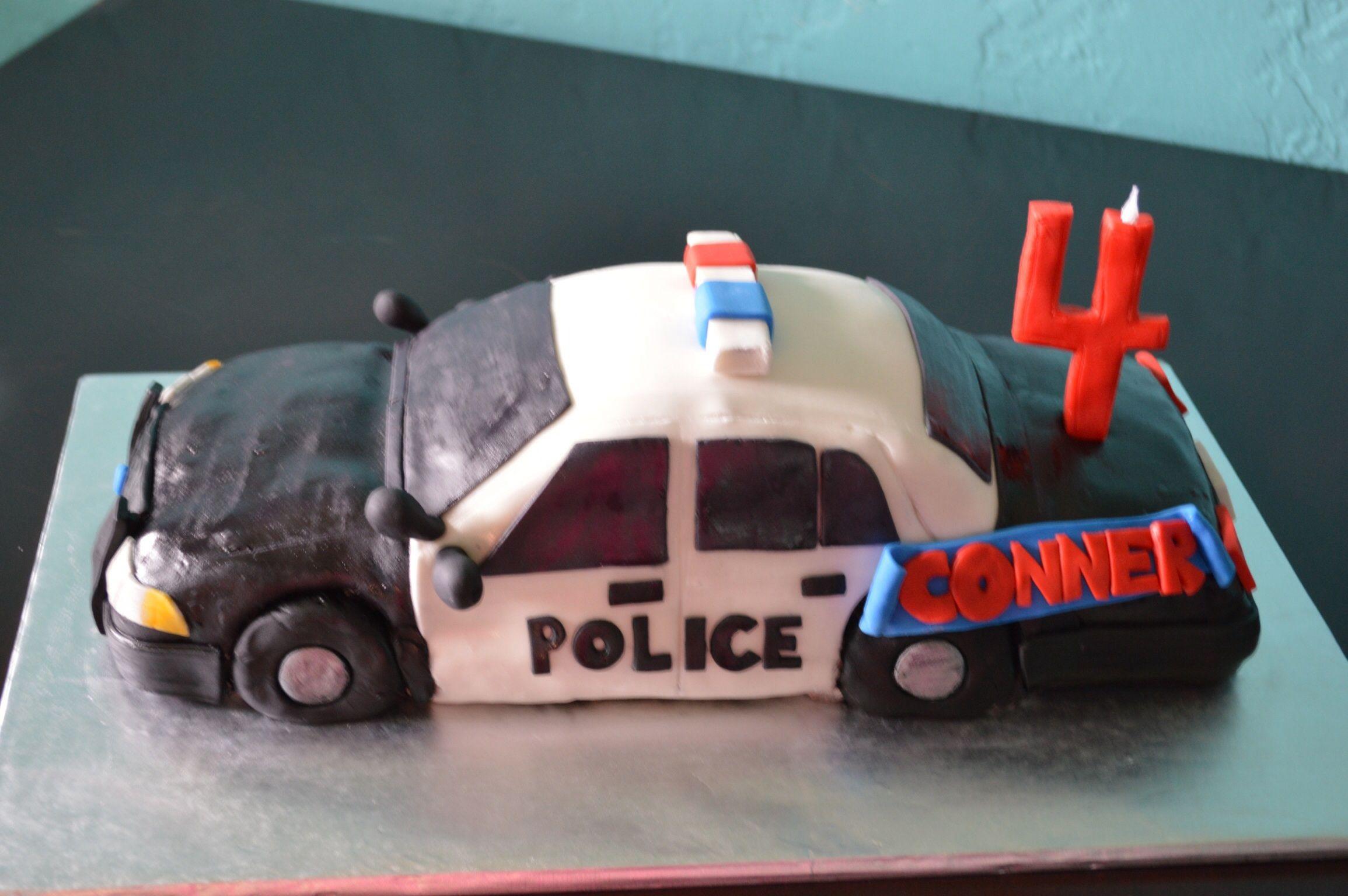 Police Car Cake Toms Stuff Pinterest